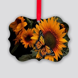 Sunflower Radiance Monarch Butter Picture Ornament