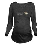 Christmas Chickens Long Sleeve Maternity T-Shirt