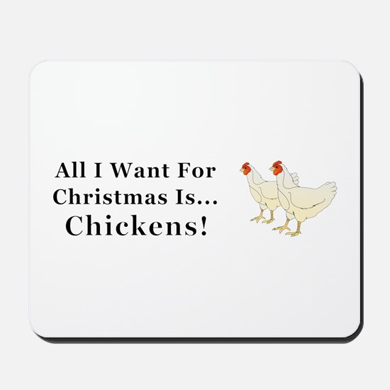 Christmas Chickens Mousepad