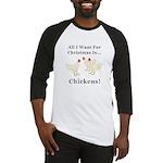 Christmas Chickens Baseball Jersey