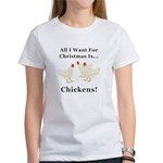 Christmas Chickens Women's T-Shirt