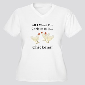 Christmas Chicken Women's Plus Size V-Neck T-Shirt