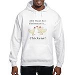 Christmas Chickens Hooded Sweatshirt