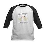 Christmas Chickens Kids Baseball Jersey