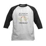 Christmas Chickens Kids Baseball Jersey
