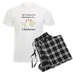Christmas Chickens Men's Light Pajamas