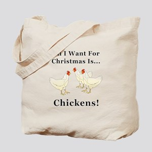 Christmas Chickens Tote Bag