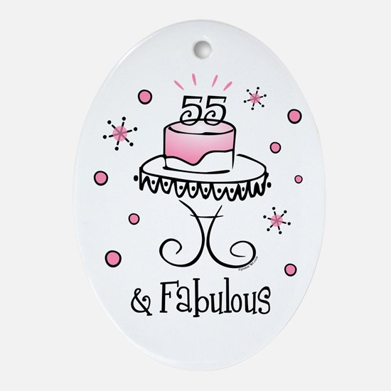 Fabulous 55 Oval Ornament