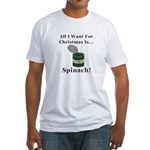 Christmas Spinach Fitted T-Shirt