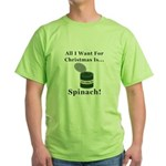 Christmas Spinach Green T-Shirt