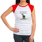 Christmas Spinach Junior's Cap Sleeve T-Shirt