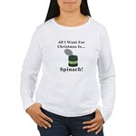 Christmas Spinach Women's Long Sleeve T-Shirt