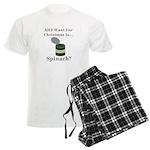 Christmas Spinach Men's Light Pajamas