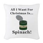 Christmas Spinach Woven Throw Pillow