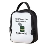 Christmas Spinach Neoprene Lunch Bag