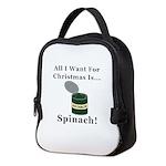 Christmas Spinach Neoprene Lunch Bag