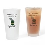 Christmas Spinach Drinking Glass