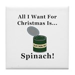 Christmas Spinach Tile Coaster