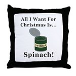 Christmas Spinach Throw Pillow