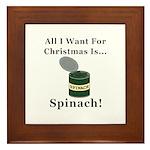 Christmas Spinach Framed Tile