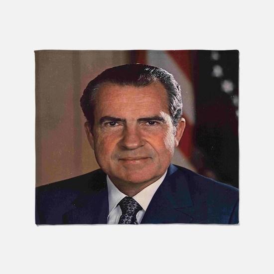President Nixon Throw Blanket