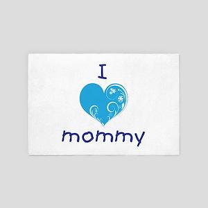 I love mommy (fancy blue) 4' x 6' Rug