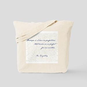 Mr. Knightley/Emma Quote Tote Bag