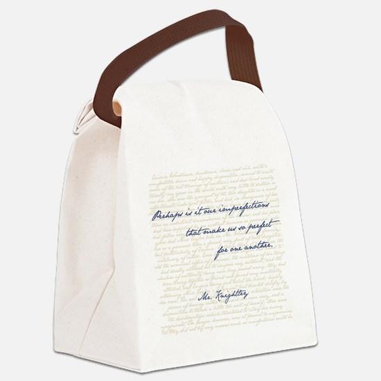 Mr. Knightley/Emma Quote Canvas Lunch Bag
