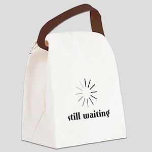 Still Waiting Circle Canvas Lunch Bag