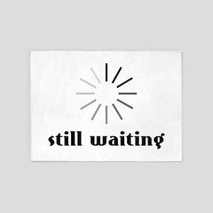 Still Waiting Circle 5'x7'Area Rug