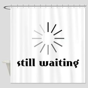 Still Waiting Circle Shower Curtain