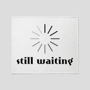 Still Waiting Circle Throw Blanket