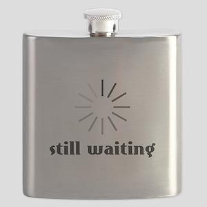 Still Waiting Circle Flask