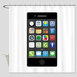 Smartphone Shower Curtain