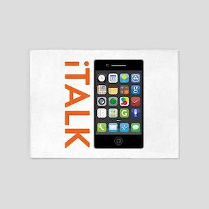 iTALK Smartphone 5'x7'Area Rug