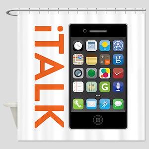 iTALK Smartphone Shower Curtain