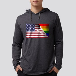 Flag Of U.S.A. Gay Pride Rainbow Long Sleeve T-Shi