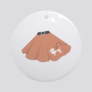 Poodle Skirt Round Ornament