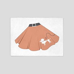 Poodle Skirt 5'x7'Area Rug