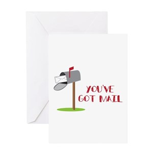 Mailbox greeting cards cafepress m4hsunfo