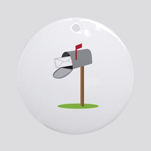 Mailbox & Letter Round Ornament