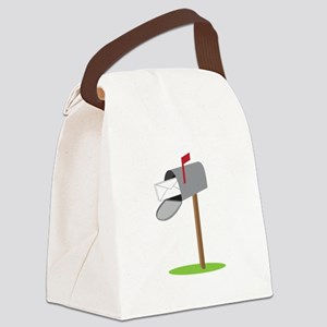 Mailbox & Letter Canvas Lunch Bag