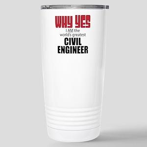 Civil Engineer Stainless Steel Travel Mug