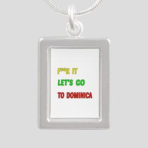 Let's go to Dominica Silver Portrait Necklace