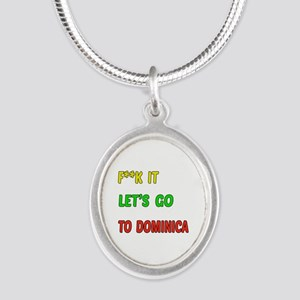 Let's go to Dominica Silver Oval Necklace