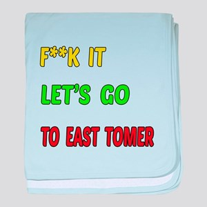 Let's go to East Timor baby blanket