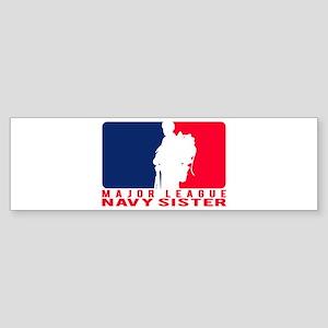 Major League Sis - NAVY Bumper Sticker