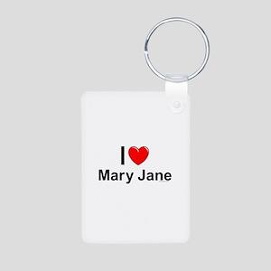 Mary Jane Aluminum Photo Keychain