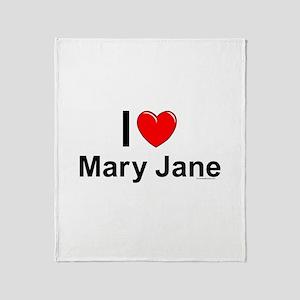 Mary Jane Throw Blanket