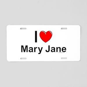 Mary Jane Aluminum License Plate